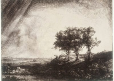 Les trois arbres - Rembrandt (1641)
