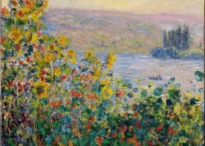 Lit de fleurs a Vetheuil - Claude Monet (1881)