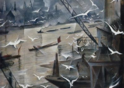 London in winter - Christopher Richard Wynne Nevinson (1928)