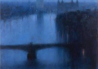 Looking west from Albert Embankment - Andrew Gifford (2009)