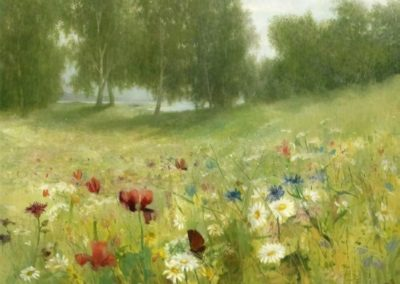 Lush green summer meadow - Anna Billing (1885)