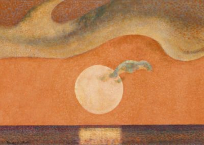 Mendocino sunset - Millard Sheets (1985)