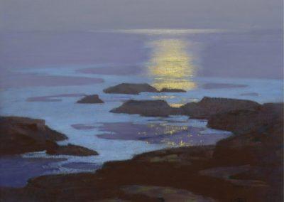 Moonlight, the coast of Maine - Edward Potthast (1923)