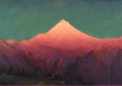 Mount Hood from near the Columbia river - James Everett Stuart (1916)