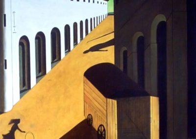 Mystère et mélancolie d'une rue - Giorgio de Chirico (1914)