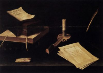 Nature morte a la bougie - Lubin Baugin (1630)