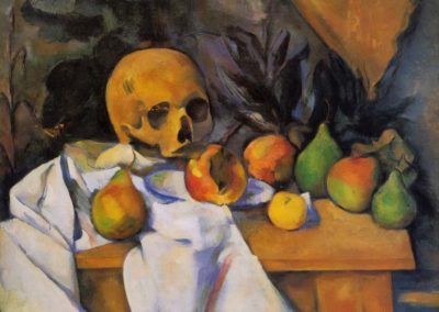 Nature morte au crane - Paul Cezanne (1866)