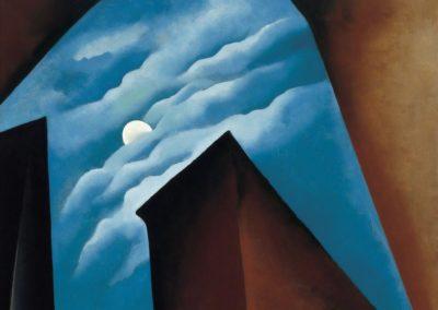New York street with moon - Georgia O'Keeffe (1925)