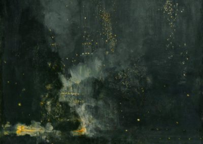 Nocturne in black and gold - the falling rocket - James McNeill Whistler (1875)