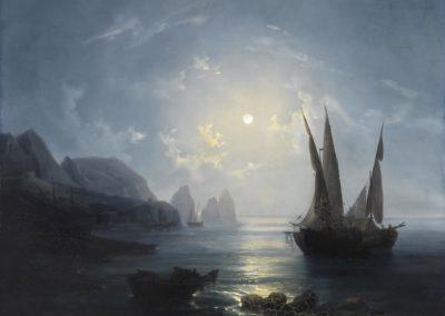 Notturno a Capri - Salvatore Fergola (1843)