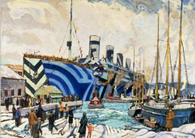 Olympic with returned soldiers - Arthur Lismer (1919)