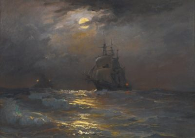 On high seas by moonlight - Diyarbakirli Tahsin (1919)