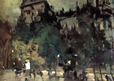 Paris apres la pluie - Konstantin Korovin (1900)