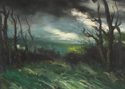 Paysage au crepuscule - Maurice de Vlaminck (1921)