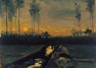 Paysage de soirée - Vincent van Gogh 1885