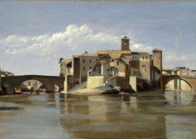Rome, San Bartolomeo - Camille Corot (1825)