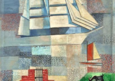 Sailing ship - Jeanne Mammen (1935)