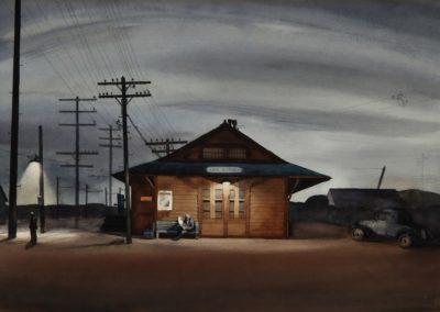 San Dimas train station - Millard Sheets (1933)