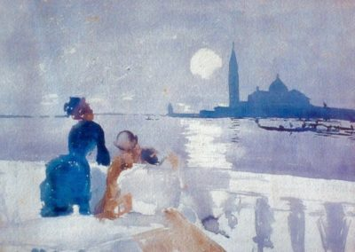 San Giorgio by moonlight - Ralph Wormsley Curtis (1881)