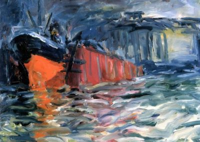 Ship in the dock - Emil Nolde (1910)