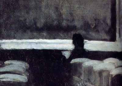 Solitary figure in a theater - Edward Hopper (1903)