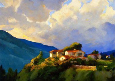 Storm clouds, devil's gate, Pasadena - Jean Mannheim (1954)