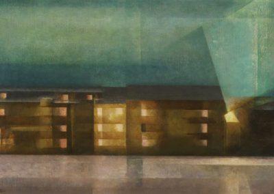 Street Nocturne - Lyonel Feininger (1929)