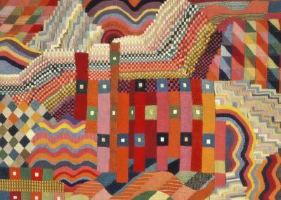 Tapisserie murale rouge-vert - Gunta Stölzl (1927)