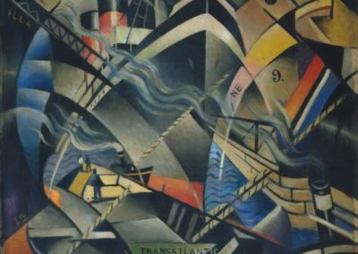 The arrival - Christopher Richard Wynne Nevinson (1913)
