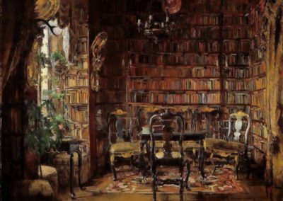 The library of Thorvald Boeck - Harriet Backer (1902)