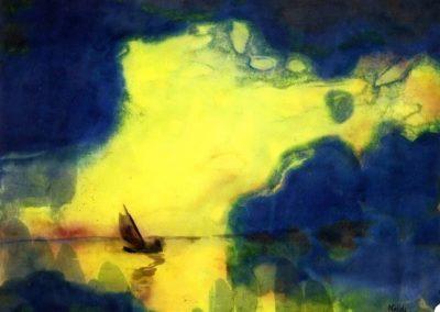 The sea at dusk - Emil Nolde (1914)