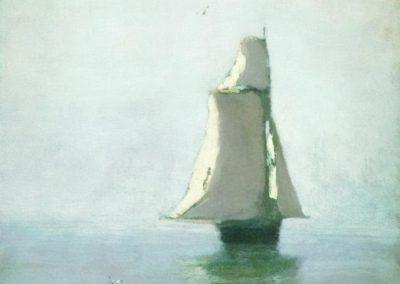 The sea with a sailing ship - Arkhip Kuindzhi (1879)