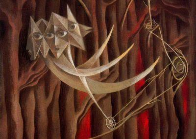 Tightrope walkers - Remedios Varo (1944)