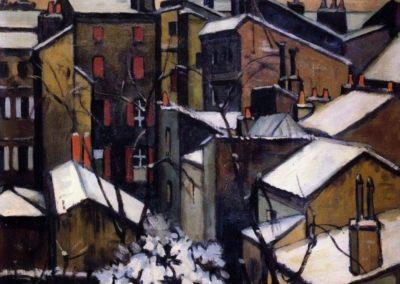 Toits de Bordeaux sous la neige - André Lhote 1909