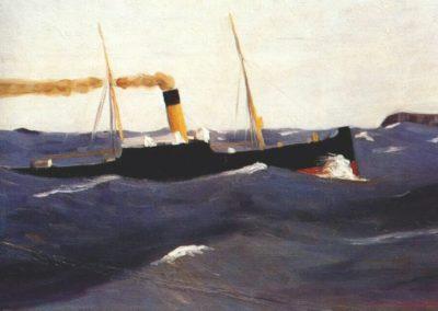 Tramp steamer - Edward Hopper (1921)