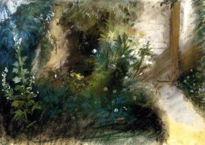 Un chemin dans le jardin à Augerville - Eugène Delacroix 1855