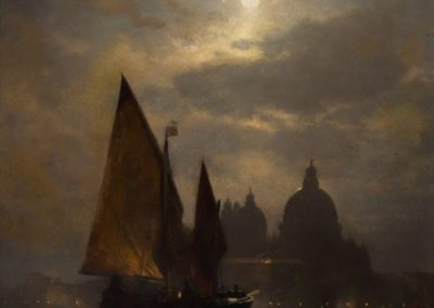 Venezia by moonlight - Sophus Jacobsen (1871)