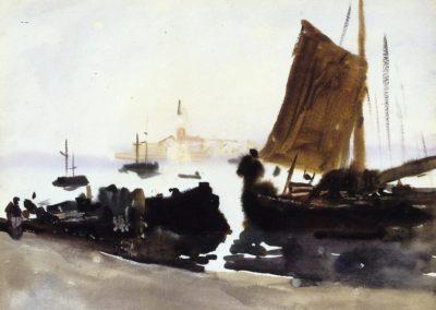 Venice, sailing boat - John Singer Sargent (1903)