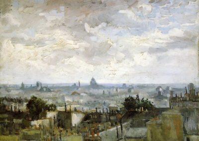 Vue des toits de Paris a la fin de l'ete - Vincent van Gogh (1886)