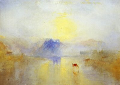 Norham castle, sunrise - William Turner (1835)