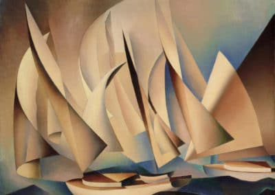 Boats at sea - Charles Sheeler (1922)