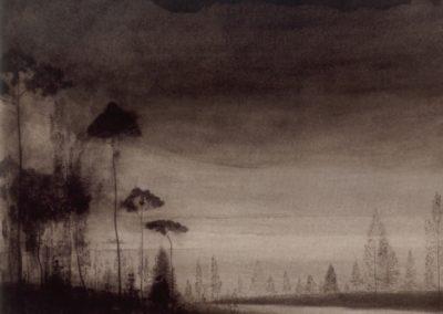Paysage aux arbres élancés - Léon Spilliaert (1900)