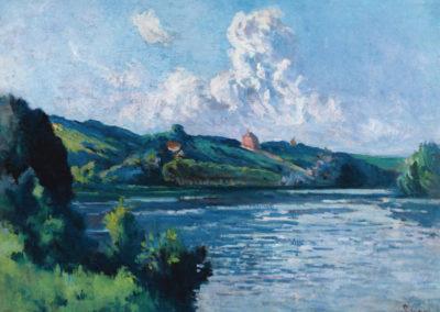 Paysage de Rolleboise - Maximilien Luce (1935)