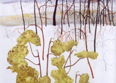 Paysage hivernal au lierre - Léon Spilliaert (1915)