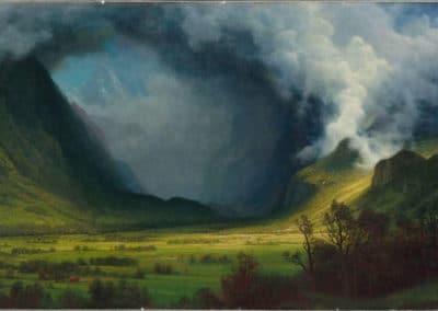 Tempête sur la montagne - Albert Bierstadt (1870)