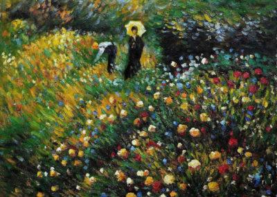 Dame à l'ombrelle - Pierre-Auguste Renoir (1875)