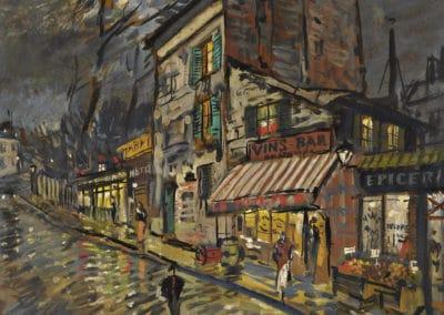 Paris la nuit - Konstantin Korovin (1925)