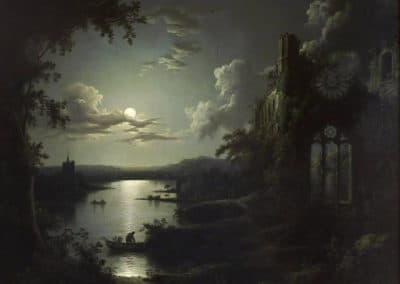 Ruines au clair de lune - Sebastian Pether (1828)