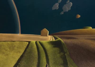 She did not turn - David Inshaw (1974)