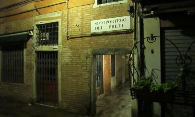 La sirène du Sotoportego dei preti